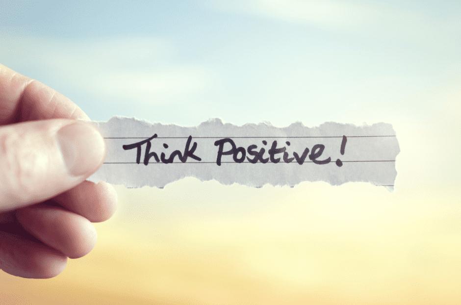mentale rust met positieve gedachten